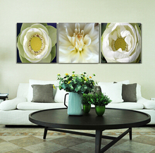 3Panels Water Lilies Flower Wall Painting Square Living Home Decoration Wall Oil Art Picture On Canvas Prints Decor Waterproof(China (Mainland))
