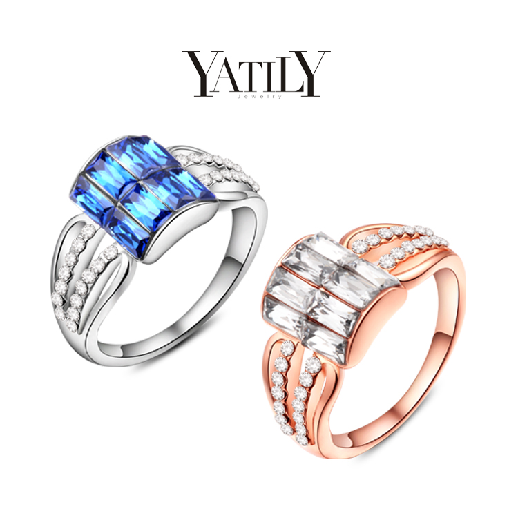 YATILI design, romantic princess female ring, 24 k rose gold, platinum, AAA sapphire in South Africa, noble temperament, 101163(China (Mainland))