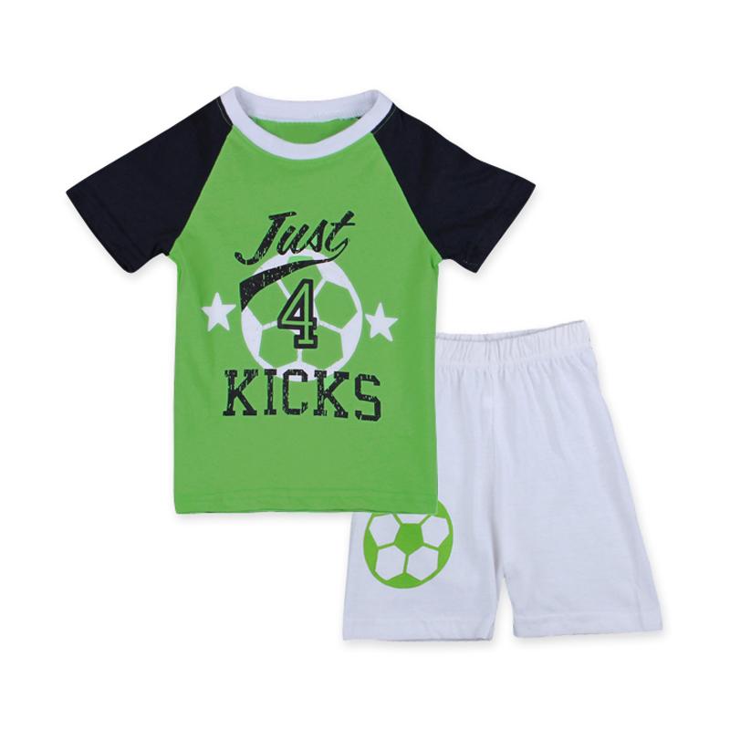 Summer New Boys Sports Suit Casual Boys 2PCS Football Clothing Set Short Sleeved T-shirt+White Shorts Cool Children's Clothing(China (Mainland))