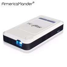 Quad Core Android4.4 Power Bank Mini Portable DLP Projector Wi-Fi DLNA Business Home Theater Wireless Display Free shipping(China (Mainland))