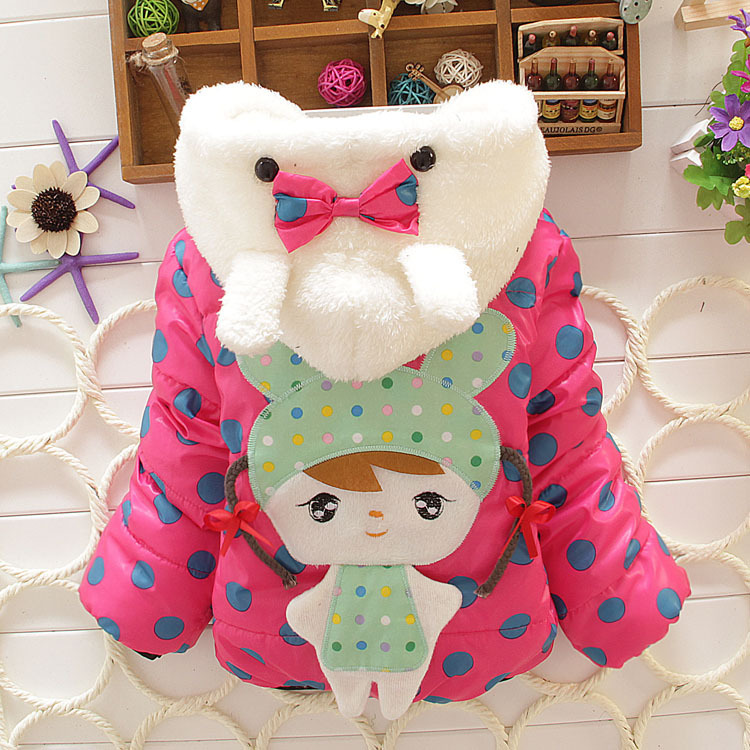 Baby girl winter coats newborn fashion children's jackets girls cute character baby clothing kids clothes outwear&parkas - Shining bags store