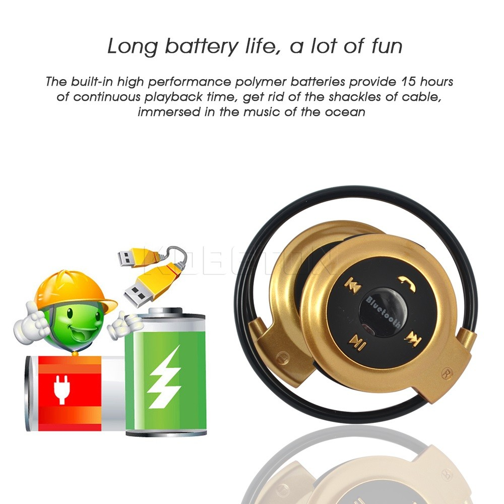 New TF Card +FM+MP3 Sport Wireless Bluetooth Headphones Stere Earphones Headsets Hands-free call for iphone Mobile Phone
