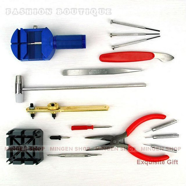 MINGEN SHOP - 16 in 1 Watch Repair Tools REPAIR ADJUST STRAP Hammer Screwdrivers wholesale & retail WTX0004