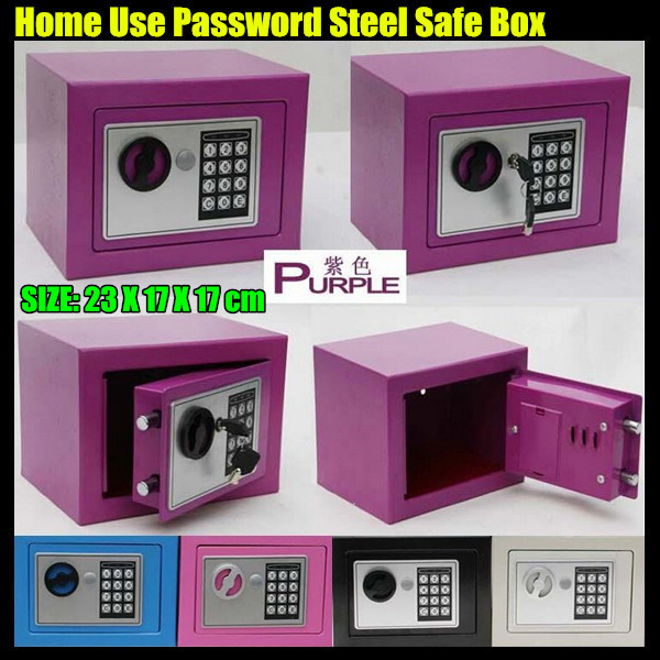 10ps!23*17*17cm MINI Home Use Steel Safe Box,Electronic Password Strongbox Store:Jewelry&Cash&Credentials&Precious&Privacy Goods(China (Mainland))