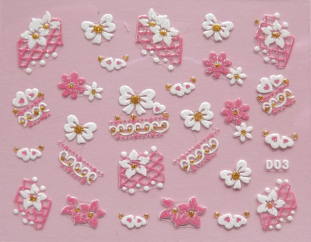 Nail art applique french nail art nail art finger three-dimensional applique nail art