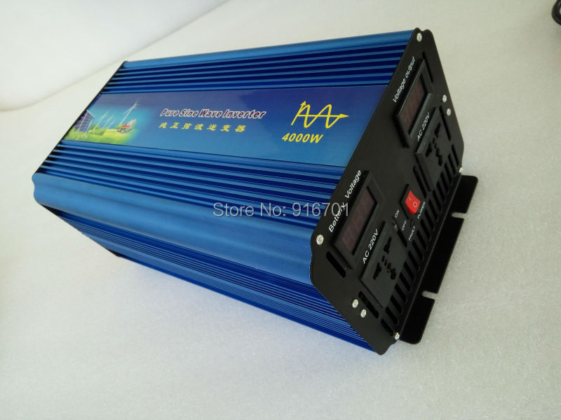 4000W converter onda sinusoidale pura 4000W Pure Sine Wave Inverter 8000W Peak, 24vdc to 110VAC Power Inverter(China (Mainland))