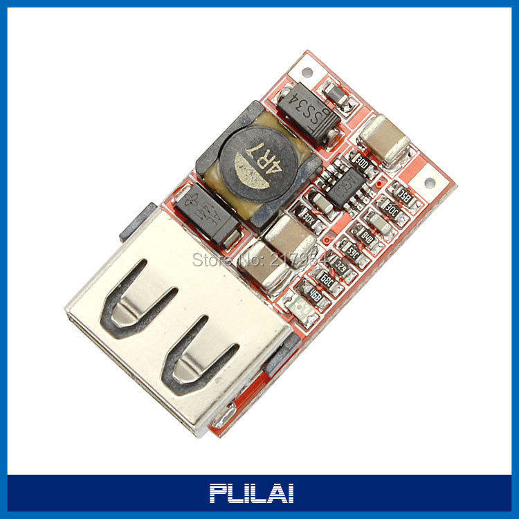 Mini Size USB Output DC Buck Converter 6-24V 12V Step 5V 3A Synchronous Rectification Power Supply Charger Module - PLILAI store