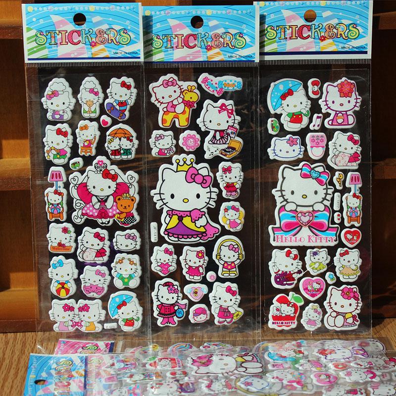 5pcs/lot 3D Baby Nursery bubble Stickers Kids boys girls Foam Cartoon DIY Stickers Cute Puffy Children toys Stickers(China (Mainland))