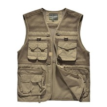 New Arrival Hunting Mesh Vest Men's Quality Outdoor Travel Vests Director Photographer Vest With Many Pockets Hunting Vests(China (Mainland))