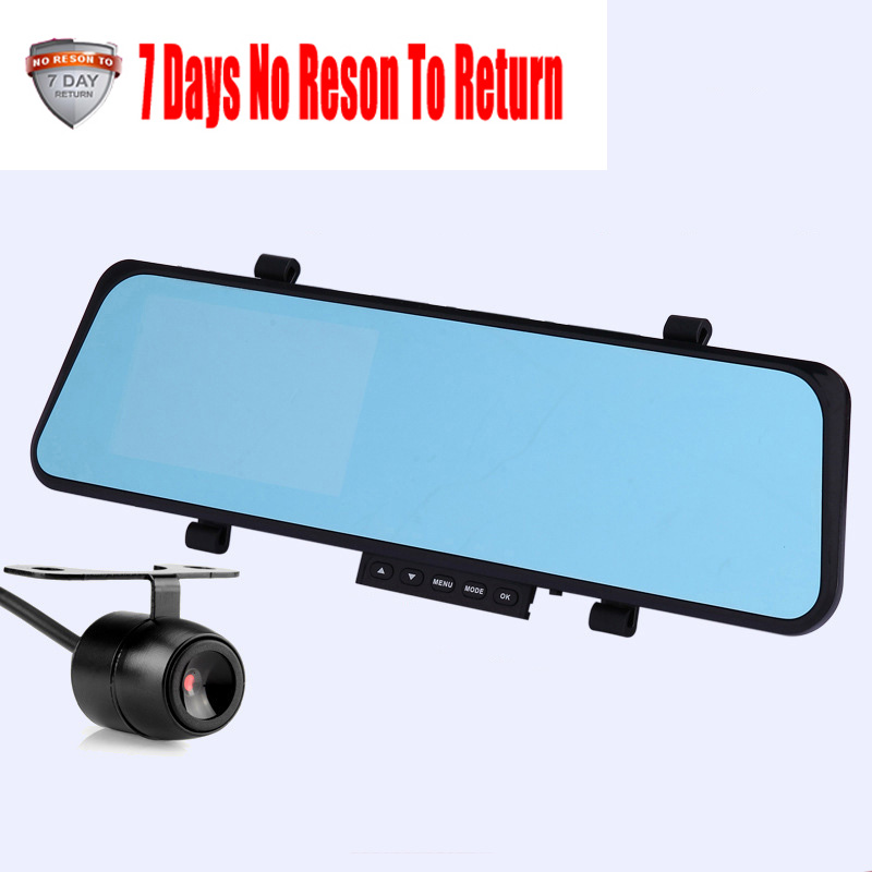Car Rearview Mirror Camera Video Recorder Car DVR Dual lens Night Vision Full HD 1080P Camcorder With Two Cameras Auto Dash Cam
