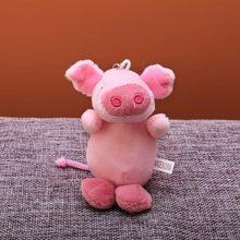 Bonito dos desenhos animados Bola De Pêlo Chaveiro De Pelúcia Rosa Porco animal bag Pingente de Chave anel Titular meninos Chimmy Bolsa Charme Para meninos meninas(China)
