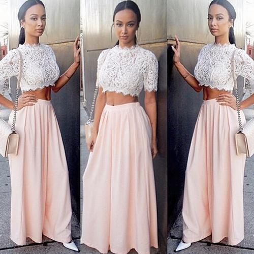Платье из юбки и топа
