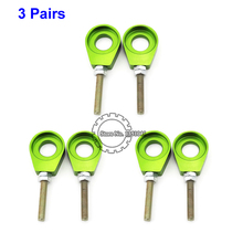 3 Pairs Green 15mm Alex Chain Adjuster Pulley Tensioner Pit Dirt Bike Chinese XR CRF 50 KLX SSR Thumpstar Motorcycle - Speed Cooperator store