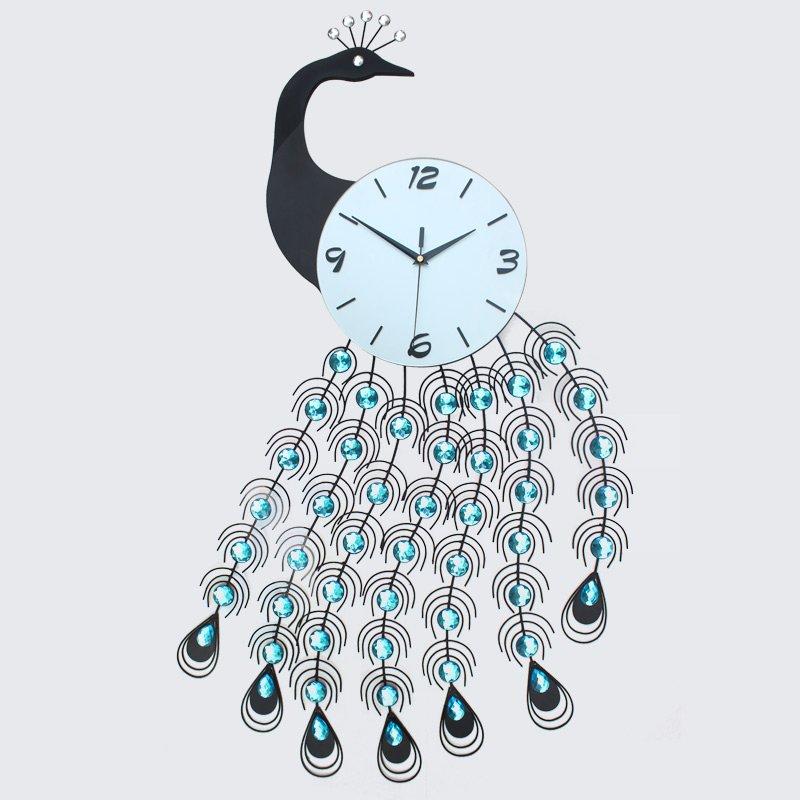 Paon horloge promotion achetez des paon horloge for Horloge murale grande taille