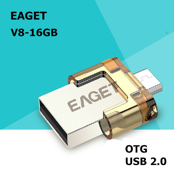EAGET V8 100% 16GB Smart Phone Tablet PC USB Flash Drives OTG external storage micro 16g pen drive memory stick Free shipping(China (Mainland))