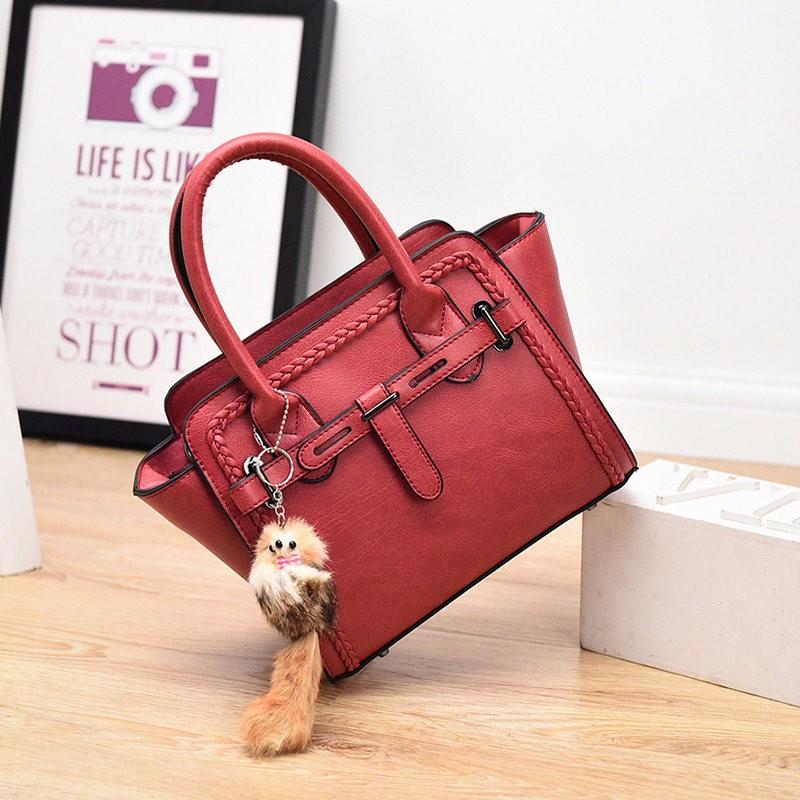 Designer Knitting Edges Women Fashion Handbag Elegant Crossbody Bag Blet Buckle Ladies Stylish PU Leather Ladylike Shoulder Bag