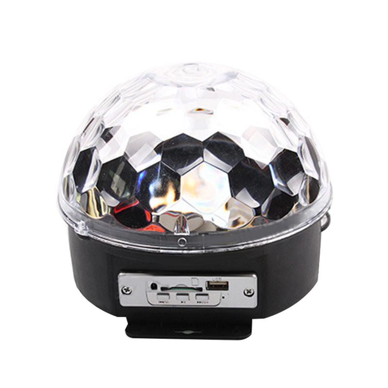 Mini DJ Laser Stage Light MP3 IR Remote Digital RGB LED Crystal Magic Ball MP3 magic ball light(China (Mainland))