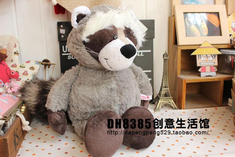 Free Shipping 35cm / 50cm NICI Cute Cartoon Raccoon Plush Toys Stuffed Animal Dolls Best Gift For Kids(China (Mainland))