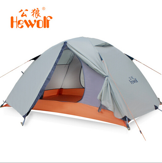 Hewolf Outdoor Double Layer Tent Camping Tent for 2 person tent tourist waterproof gazebo canopy glamping outdoor gazebo(China (Mainland))