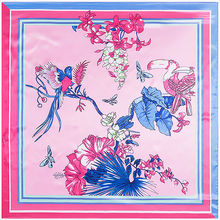 Free Shipping 2016 Hot Sale Satin Square Silk Scarf Printed For Ladies,New Arrival Women Brand Polyester Scarves 90*90cm(China (Mainland))