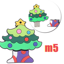 Christmas Gift USB Flash Drive Cartoon Pen Drive Santa Claus Pendrive Christmas Trees USB Stick 16GB