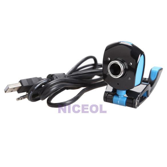 NI5L 4 LED USB 2.0 50 Mega Pixels HD Webcam Web Cam with Mic for Laptop Desktop<br><br>Aliexpress