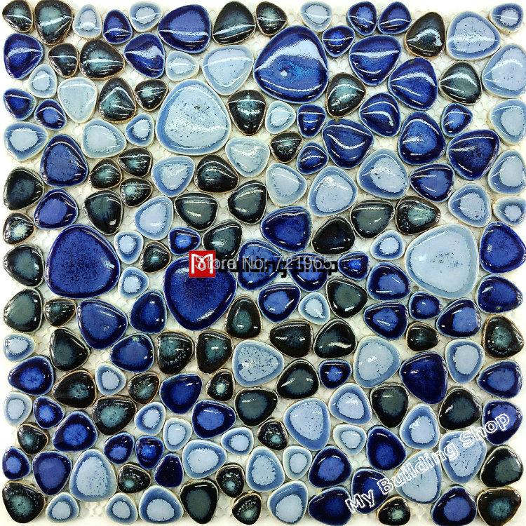 Glazed porcelain tile glass pebble mosaic tile PPMT045 pebble flooring tiles porcelain pebble mosaic ceramic tile backsplash<br><br>Aliexpress