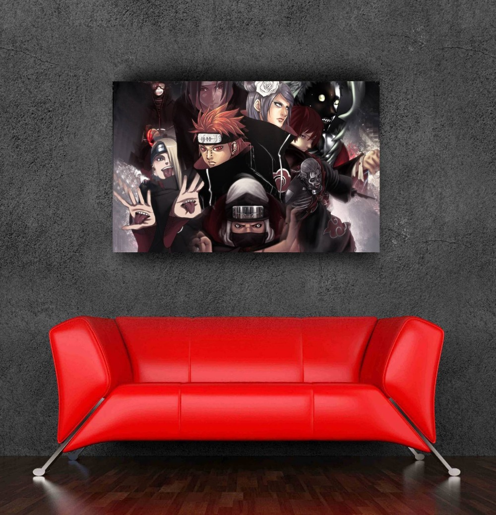 2015 Naruto poster stikers for wall decoration of size 20x31.5inch,50x80cm free shipping adesivo de parede cozinha(China (Mainland))