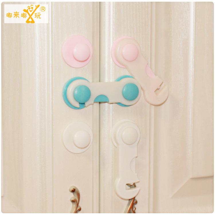 10pcs/lot toilet lock child safety lock drawer lock baby safety kids children protection lock door cabinet drawers stopper(China (Mainland))