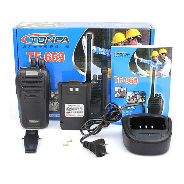 100%NEW TONFA Radio Walkie Talkie TF-669 7W 16 Channels UHF Ham CB Two Way Radio 2200mAh VOX CTCSS/DCS HF Transceiver Interphone(China (Mainland))