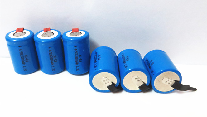 x Ni-Cd 4/5 SubC Sub C 1.2V 2200mAh Rechargeable Battery Tab - Blue Color 2014 store
