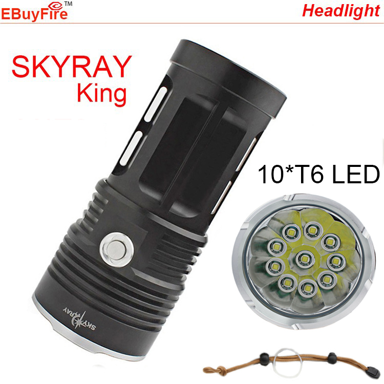 skyray king 10T6 Waterproof 18000LM 10x XML T6 Led light 3-Mode Outdoor Flashlight Lamp Torch for Hunting Camping(China (Mainland))