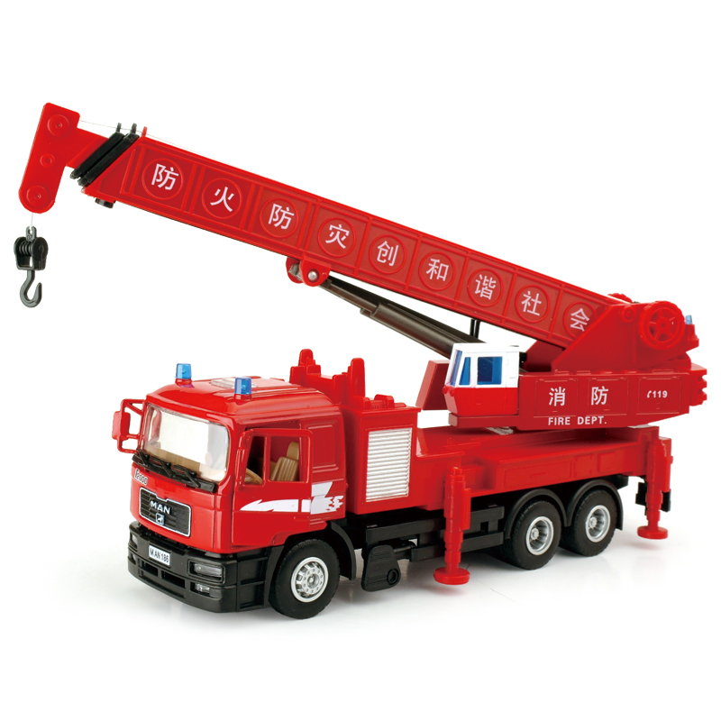 1:40 Large cranes alloy engineering car model toy car rod retractable by TP(China (Mainland))