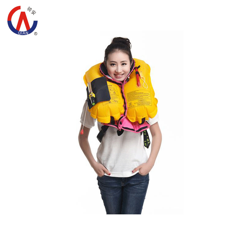 2015 New SOLAS approved new inflatable life jacket marine life jacket PFD for 150N EN471 certified(China (Mainland))