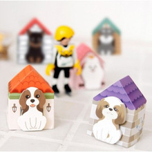 5 Pcs/lot Dog House Animal Cute Kawaii Stickers Korean Stationery Sticky Notes Memo Pad For School Post It Diary Paper(China (Mainland))