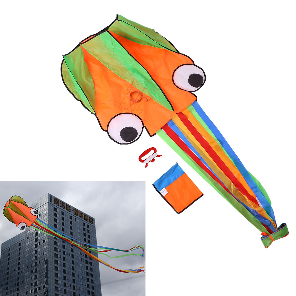 Software Power Inflatable Octopus Kite With 30m Bobbin Wind Spinners Flying(China (Mainland))