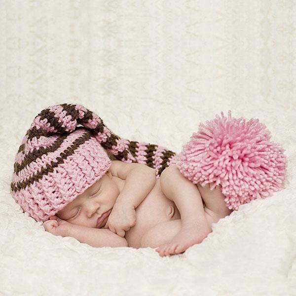 Free shipping Christmas stripe style baby hat handmade crochet photography props newborn baby cap(China (Mainland))