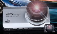 "2.7"" 1080P Dual lens Full HD ultra wide angle night vision vehicle recorder parking monitoring mini Car DVR Vehicle Camcorder(China (Mainland))"