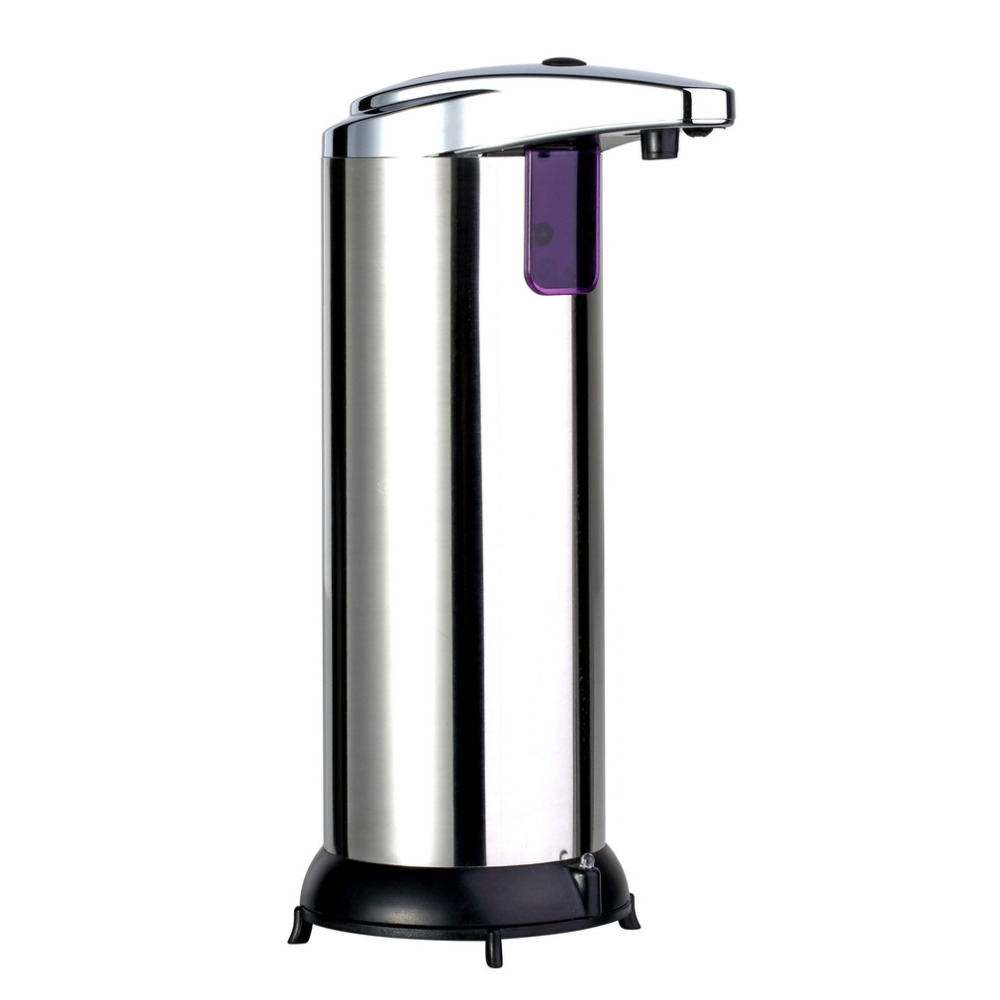 2016 280ml Automatic Sensor Soap Dispenser Base Wall Mounted Stainless Steel Touch-free Sanitizer Dispenser For Kitchen Bathroom(China (Mainland))