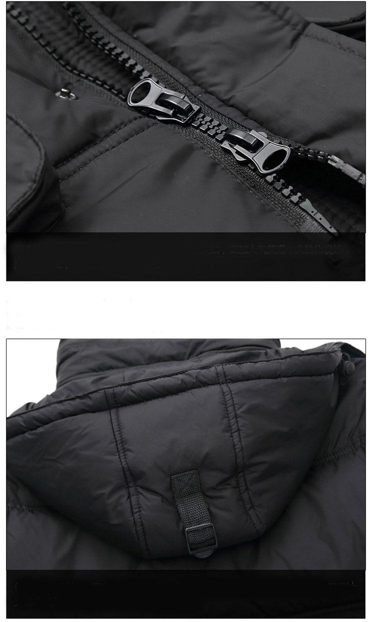 Yeni erkek Uzun Kalın Sıcak Kış Kar 80% Beyaz Ördek Aşağı Ceket Ceket Dış Giyim erkekler için siyah Boyutu M-3XL