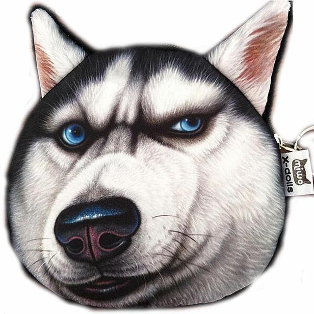 2015 новых монет кошельки бумажник дамы 3D печать кошки собаки животных большой лица ...