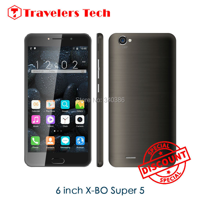 2016 New Arrival 6 inch Phone X-BO SUPER 5 MTK6580 Android Mobile Phone Dual Sim Quad Core Mobile Phone Double Cameras Phone(China (Mainland))