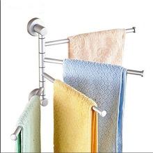 Wall Mounted Aluminum Bath Towel Holder Swivel Bathroom Rack Rail Hanger Brand New(China (Mainland))