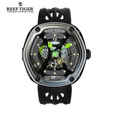 Reef Tiger/RT Swiss Luxury Dive Sport Watch Luminous Dial Nylon/Leather/Rubber Strap Automatic Creative Design Watch RGA90S7