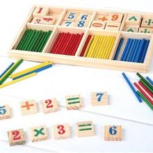 1 pz spedizione gratuita montessori numero legno math game bastoni educational toy puzzle sussidi didattici set materiali fz2065(China (Mainland))