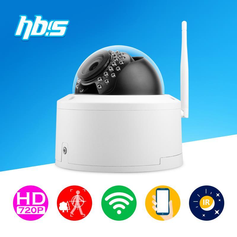 Фотография HBSS 1.0M Wireless Camera 1280*720P 802.11 b/g/n outdoor 30 pcs LED IR night vision  P2P cloud Onvif  Surveillance Cameras