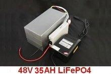 Экологически чистая железа лития ( LiFePO4 ) аккумулятор 48 В 35AH с мешком, Bms, Зарядное устройство