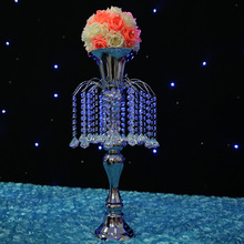 Candle holder candle stand wedding centerpiece event road lead flower rack  party wedding crystal pendants wedding candle holder(China (Mainland))