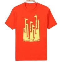 Free Shipping K030 O-Neck Shirts 100%Cotton Fashion Street Short-Sleeve Creative Printed Men's T-shirt