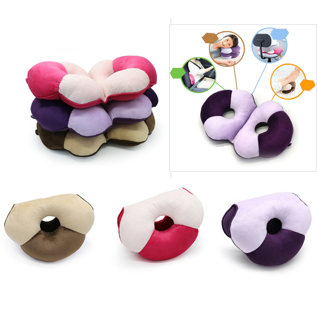 Memory Foam Seat Cushion Office Car Chair Pillow Lumbar Relief Back Support